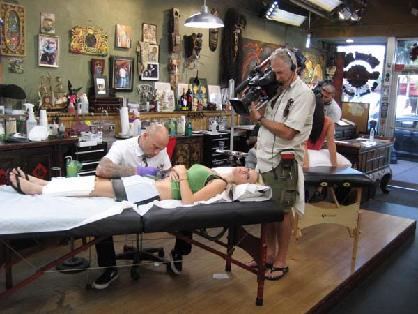 The reason for our trip was to get a tattoo at the Miami Ink Tattoo Parlor