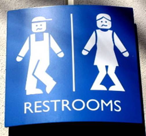 Shortarmguy39s crazy emails unique restroom signs for Cool bathroom signs